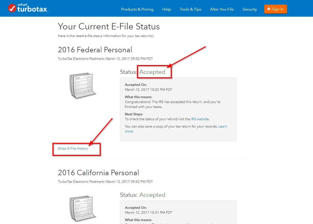 Need certification of electronic filing for bank turbotax support tefilestatus2016g 1betcityfo Images