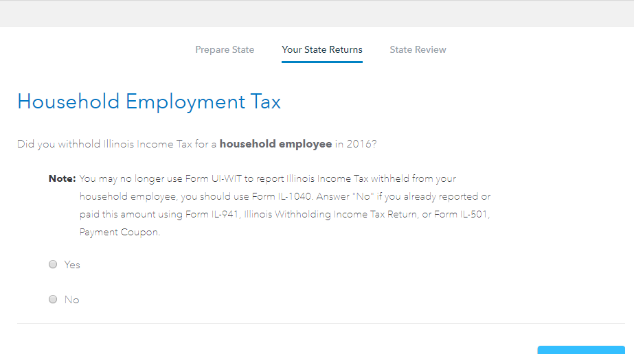 2016 Form IL-1040 is computing a Household employment tax in Lin ...