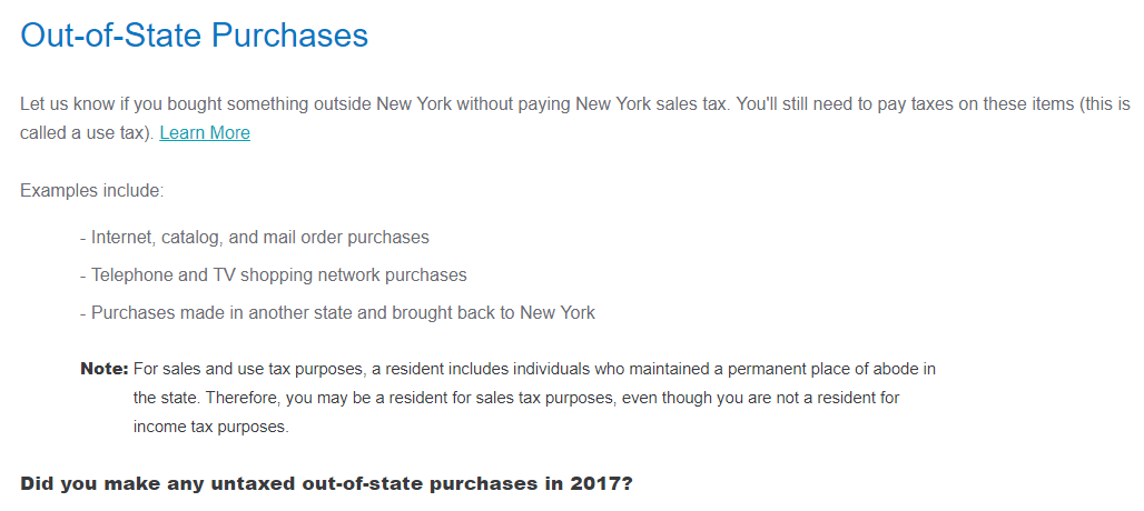Do I Have To Report Out Of State Purchases Turbotax Support