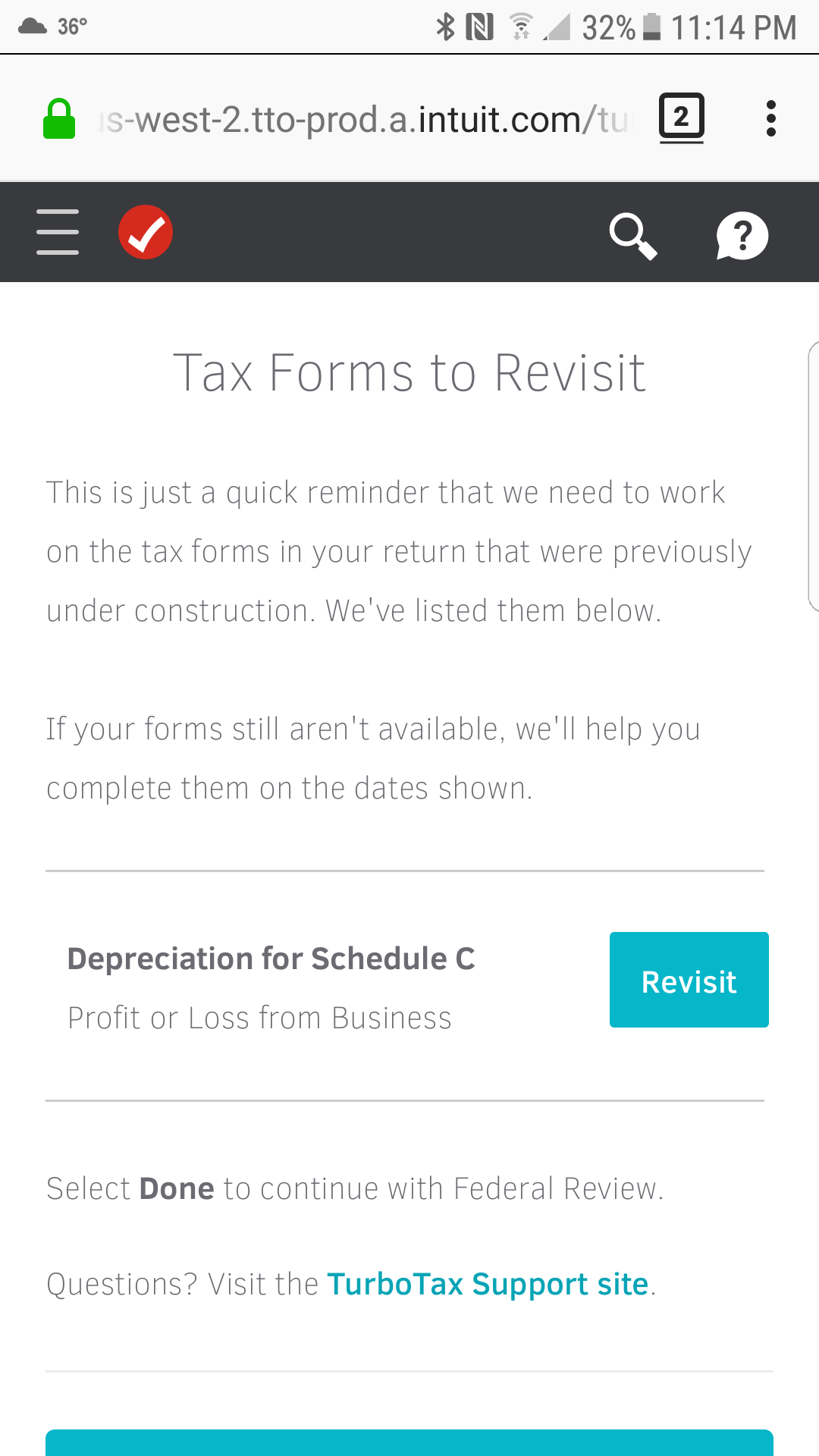 I keep getting tax form to revisit depreciation for schedule c p screenshot20180201 231445g falaconquin