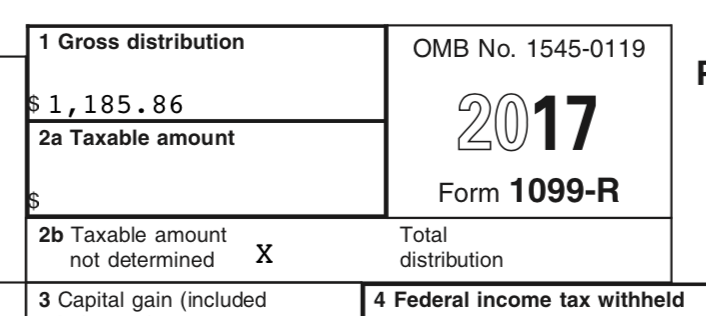 1099 R For Roth 403b To Roth Ira Direct Rollover Is Taxing Me On