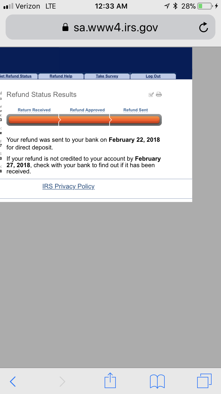 I filed&had sent to my account via direct dep.But found ...