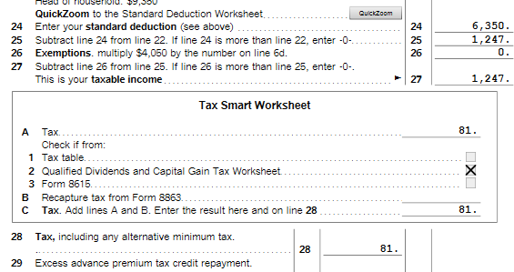 Line 28 Of My 1040a Of My 2017 Turbo Tax Computation Doesnt Mat