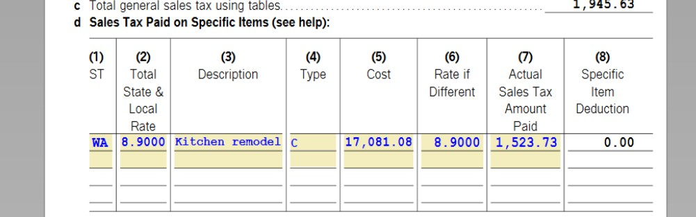 How is box 8 of line 1 d of the tax and interest deduction w formg ibookread PDF