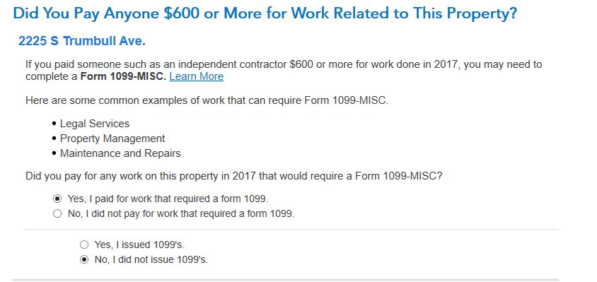 i am a small landlord and don t need 1099 misc do i answer tur