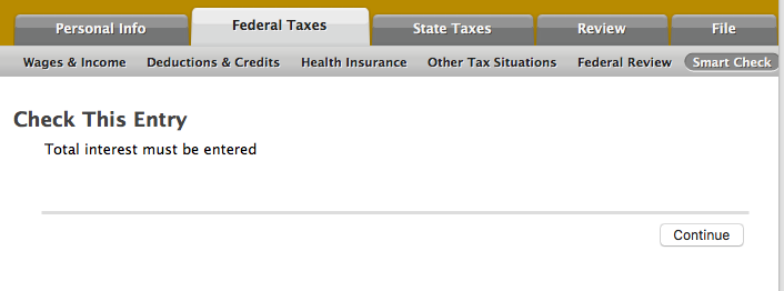Federal Review Check This Entry Total Interest Must Be Entered