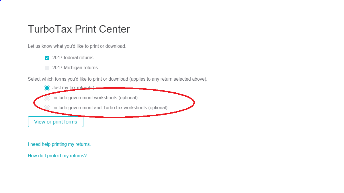 What forms need to be included with my mailed in tax forms for printcenterttog falaconquin