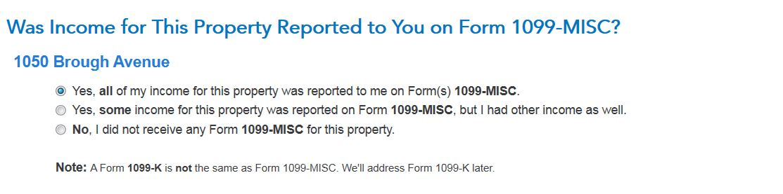 How To Enter 1099 Misc Info For Multiple Properties Since Turbo