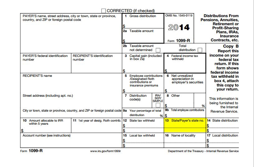 There is no box 13a, on my 1099-R form,what do i do now to file ...
