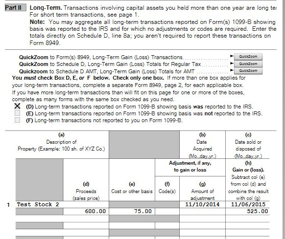 Form 1099-B worksheet not calculating type of gain/loss correctly ...