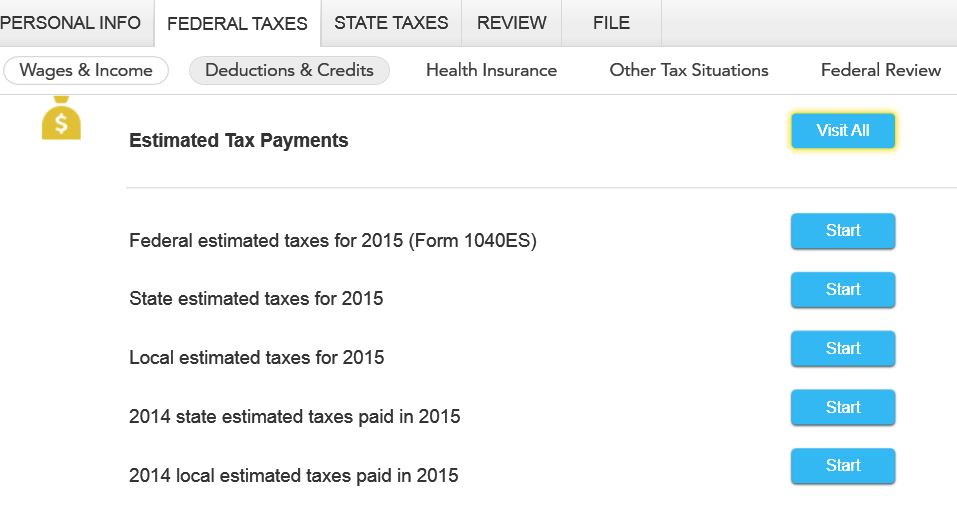 Where do I enter my quarterly tax payments for 2015? - TurboTax ...