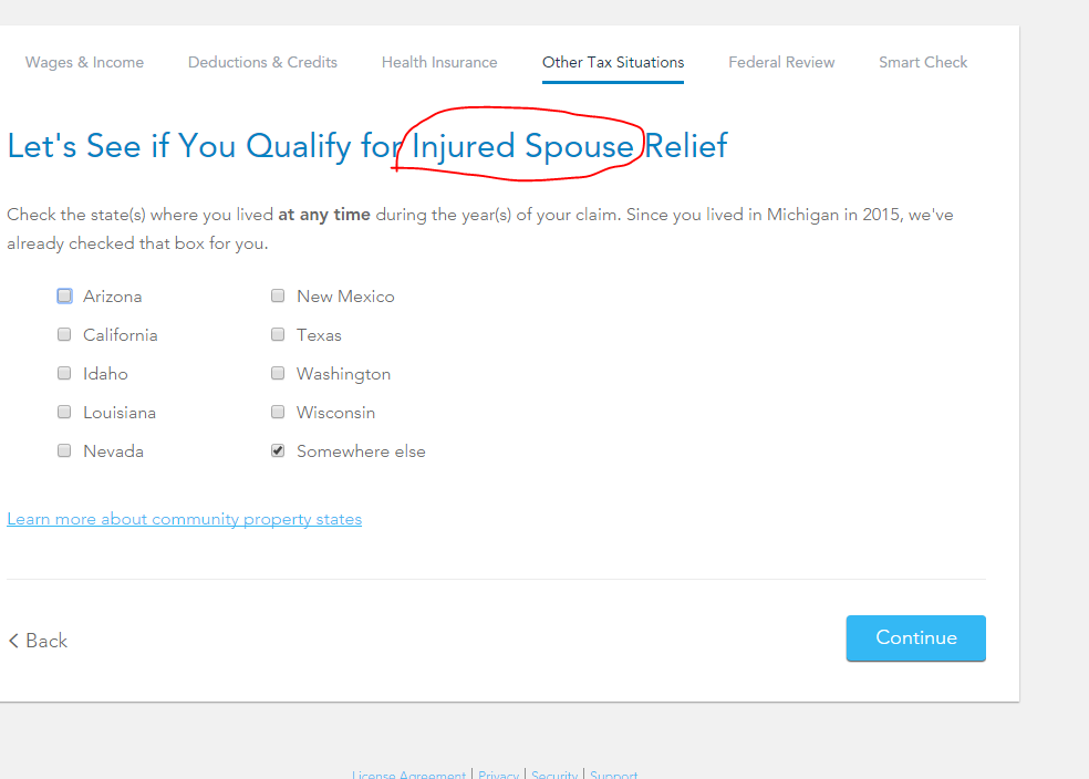 do I send injured spouse form to state filed in or state live in ...