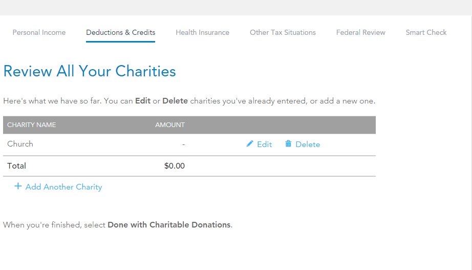Turbo Asked For Stock Symbol But Donation Is Cash Turbotax Support