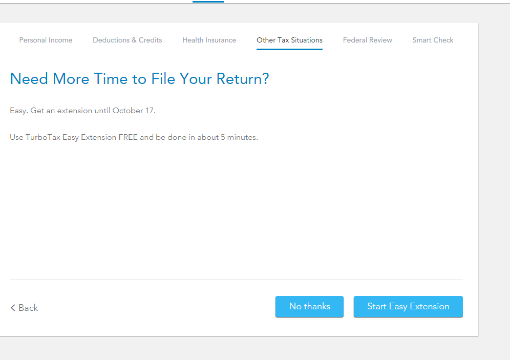 what form do i use to file extension - TurboTax Support