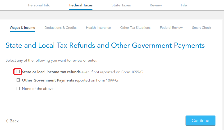 I have a 1099 g form for tax over payment. How do I include that ...