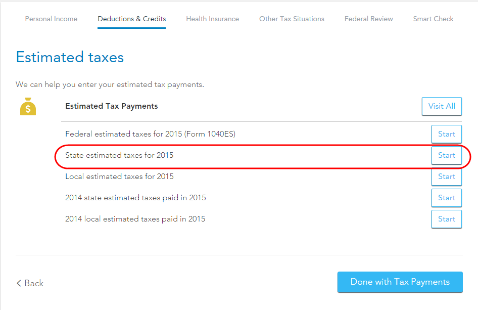 I made four payments on Mass. State forms 1-ES (estimated tax p ...