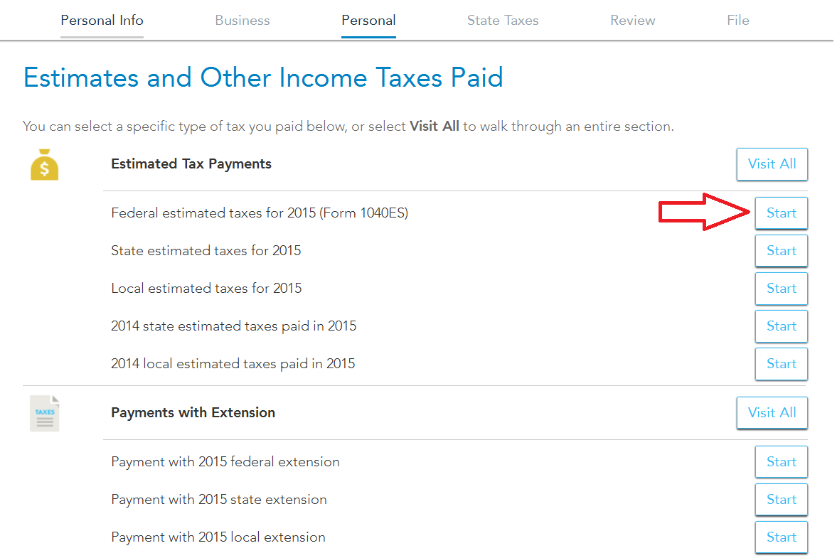 2015 Form 1040 Es Payments Turbotax Support
