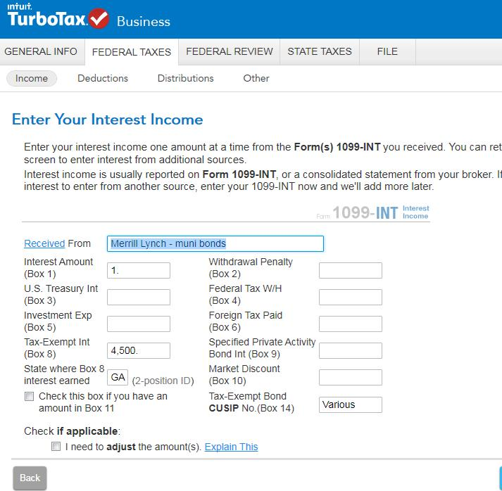 How Do I Report Nontaxable Income On Form 1041 Turbotax Support