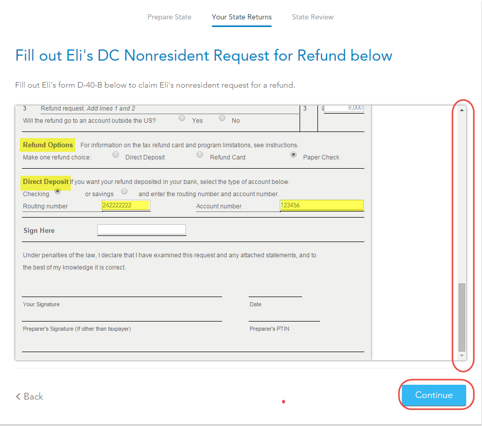How do I get TurboTax to prepare a non-resident DC return ...