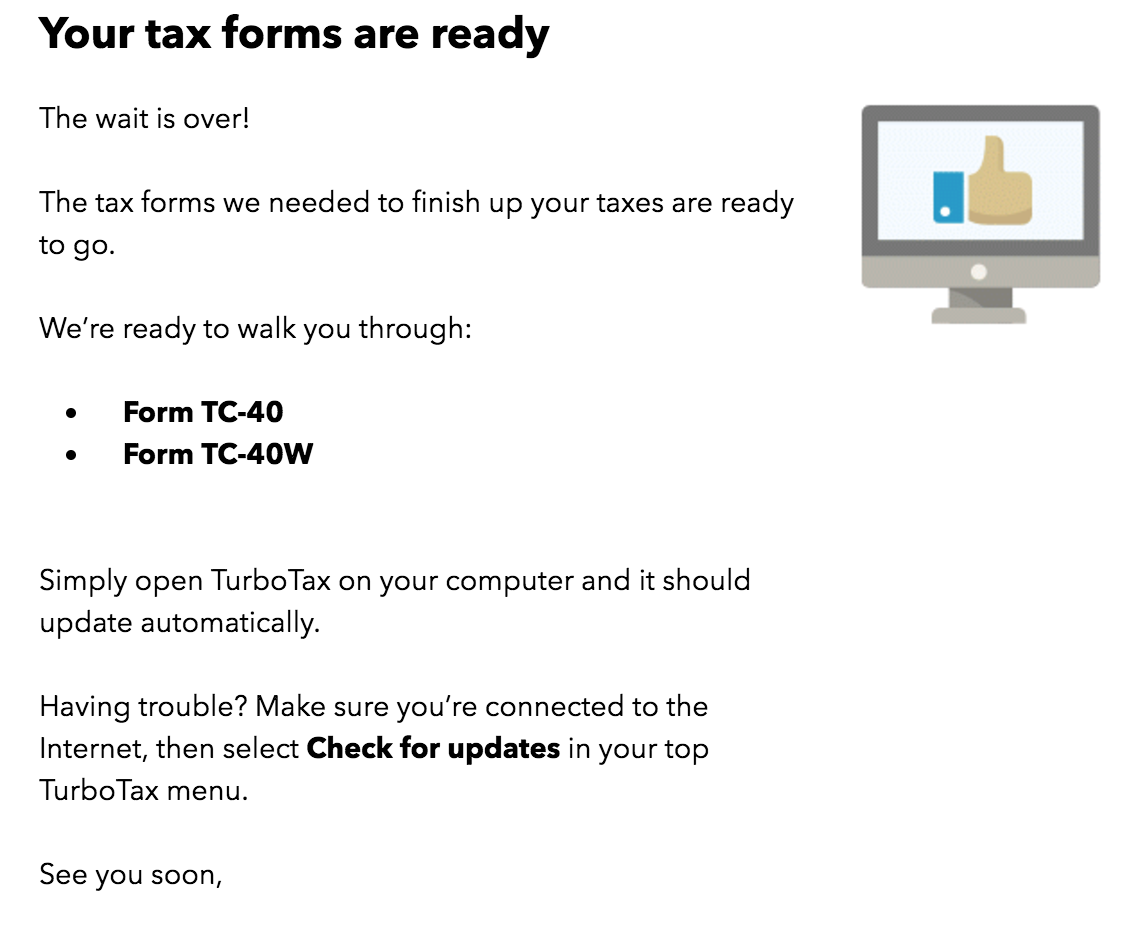 TC 40 (Utah) form not available, even though notified that it is ...