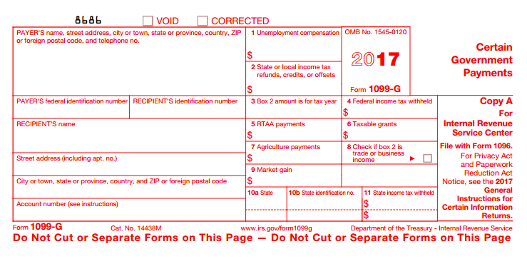 I got a 1099-G and Turbo Tax is asking the type of Payment it w ...