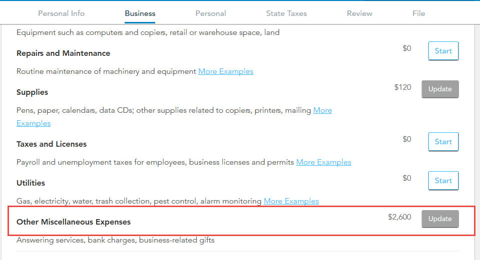 How to list startup costs for a business - TurboTax Support