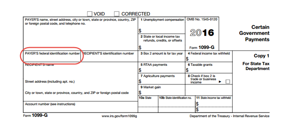 where do find the state id number for my 1099 G form? - TurboTax ...