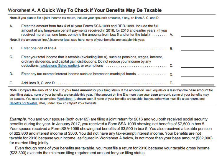 Ive finished my federal return Turbo Tax says I have income of – Social Security Taxable Worksheet