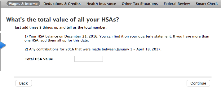Total of all your HSA's? If you have more than one HSA, add them ...