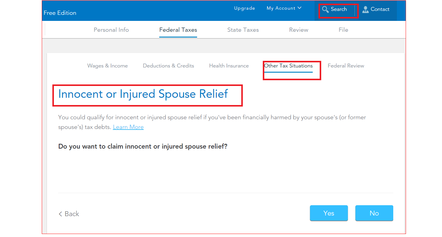 I forgot to file injured spouse - TurboTax Support
