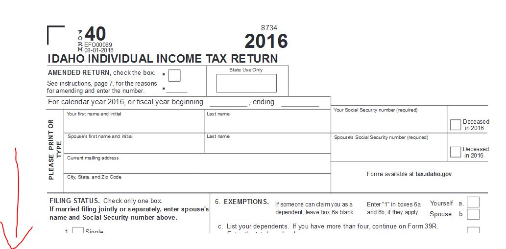 I'm filing non residents in Idaho and My income I is negative bu ...