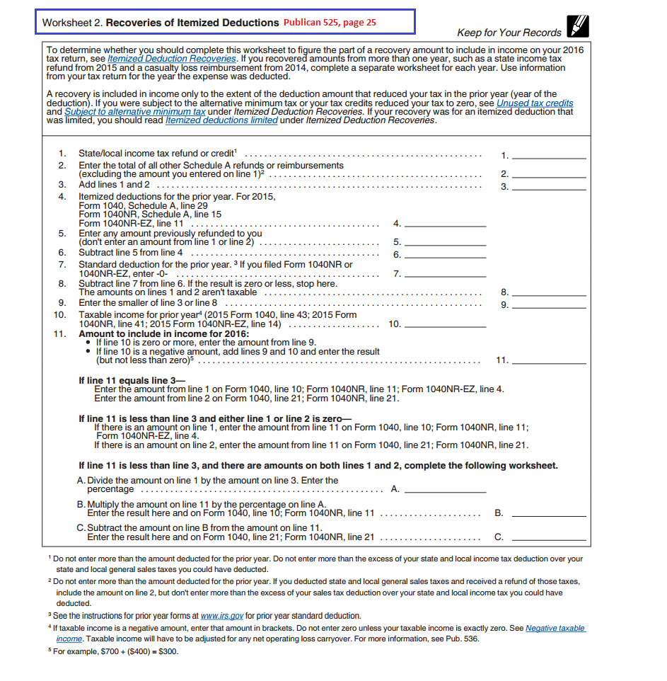 A Itemized Deductions Worksheet Delibertad – Itemized Deductions Worksheet