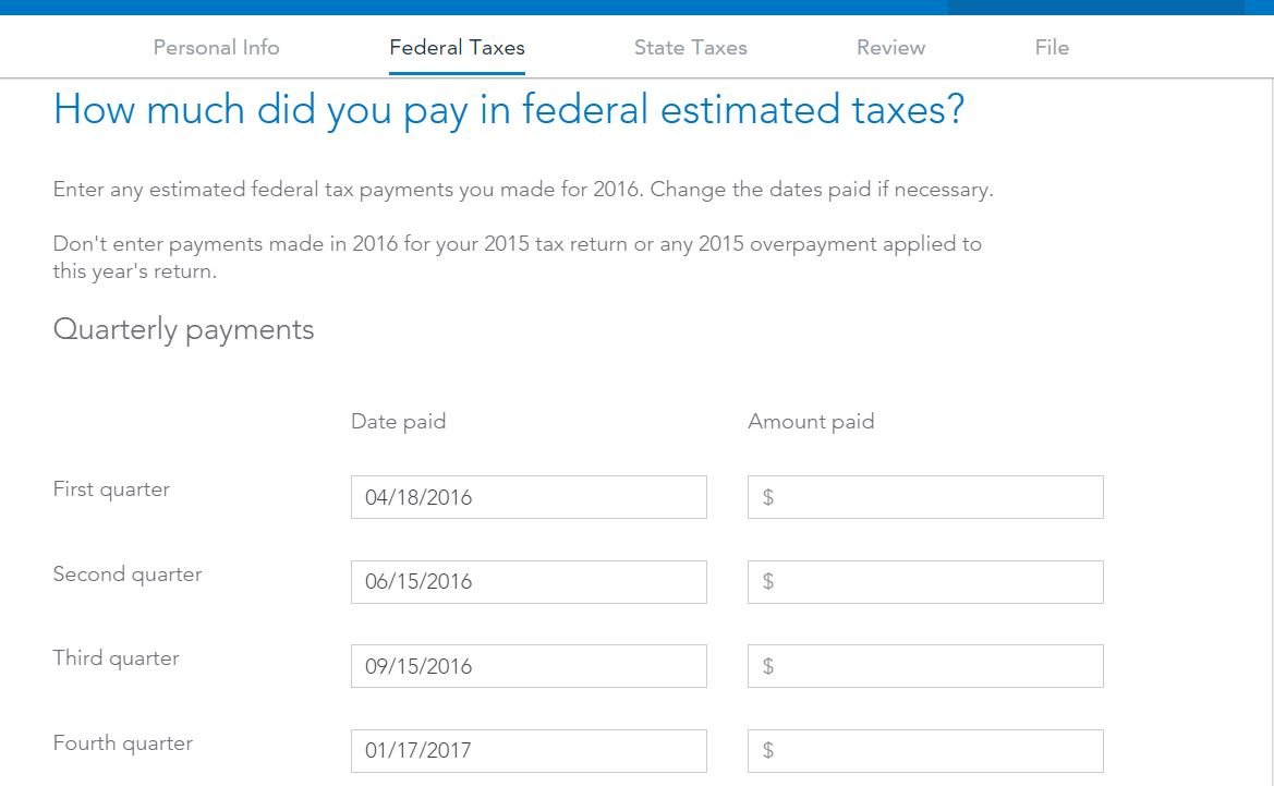 I paid estimated taxes what box number from 1040 es do i enter estimatedtaxg falaconquin