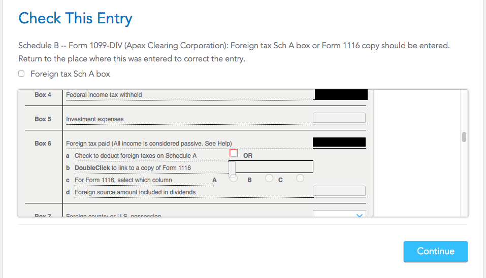 Schedule B Form 1099DIV Foreign tax schedule A or Form 1116 co – Schedule a Form