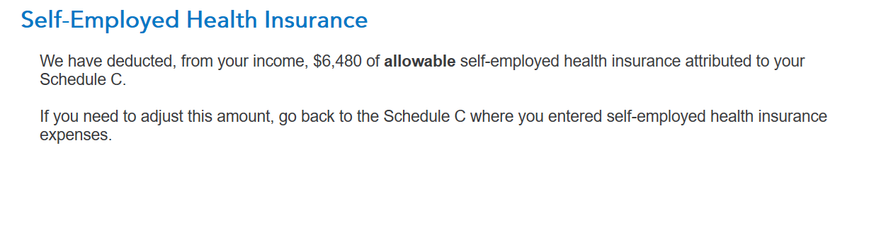 It appears that my selfemployed health insurance premium is bei – Self Employment Tax Worksheet