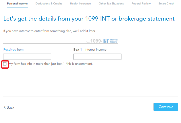 1099 Int Box 13 Or 8 Number Turbotax Support