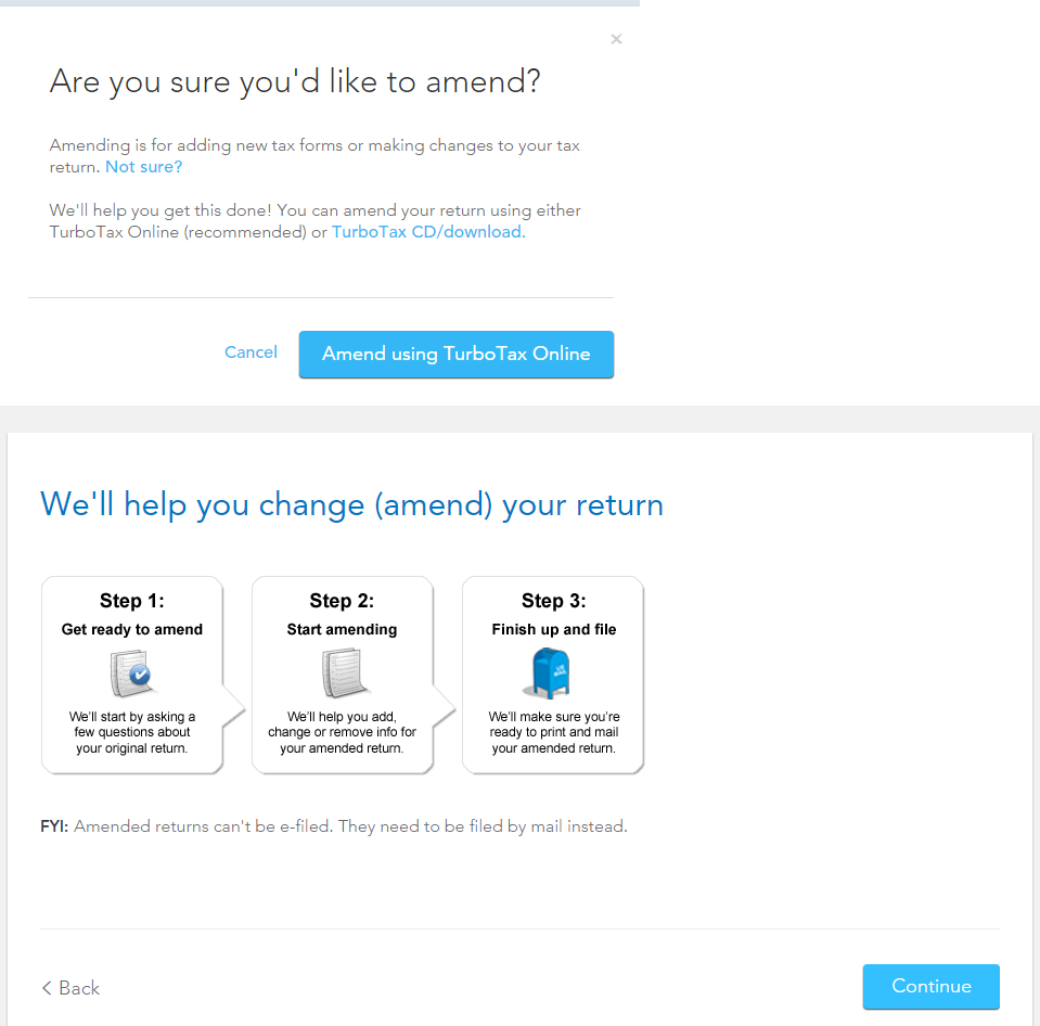 how to file an amended return with turbotax