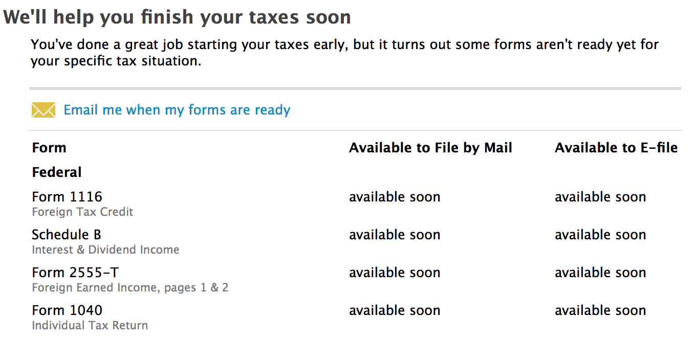 I Am Trying To Finish Filing My Taxes But It Says That Form 1116