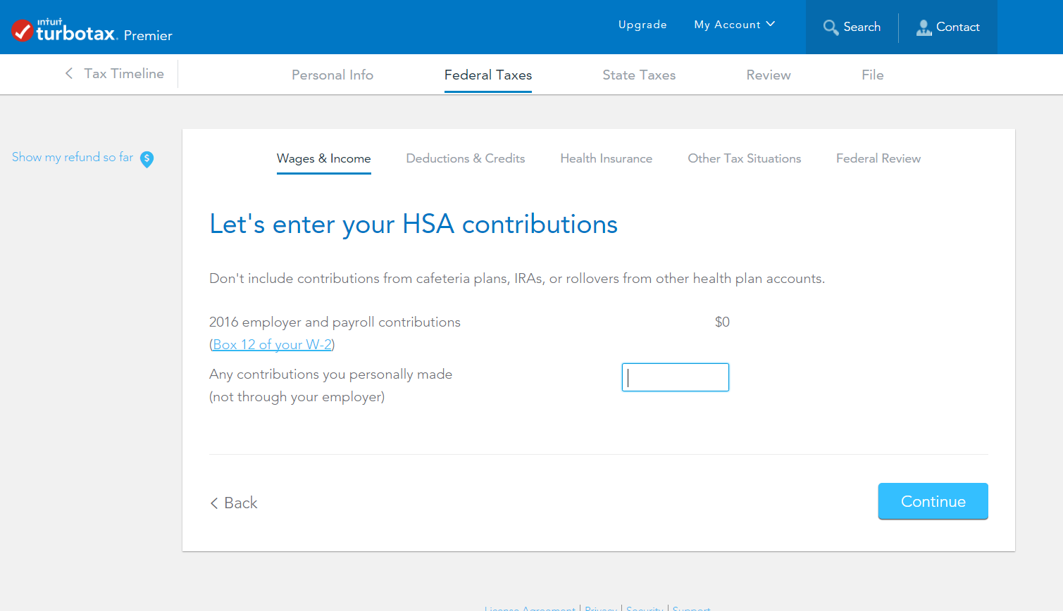 need help to remove HSA amount as it is from form 5498sa ...