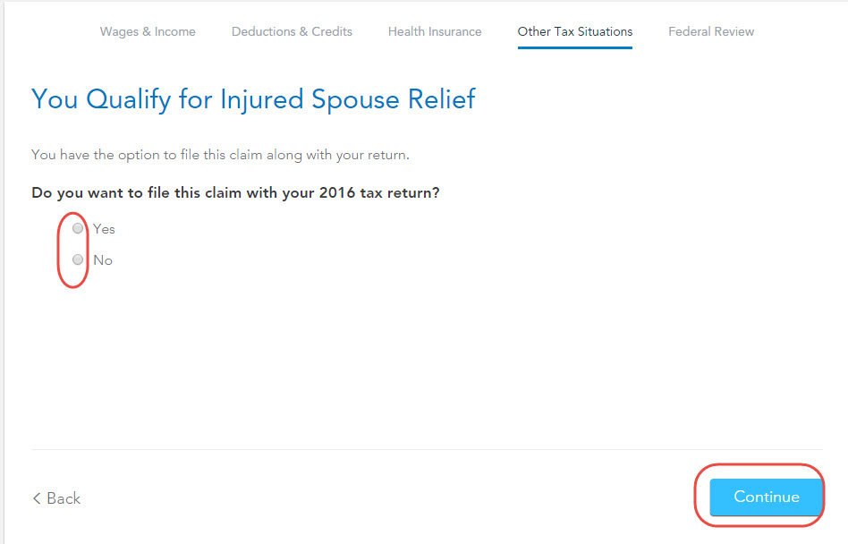 What Years To Use For Innocent Spouse Relief Form? - Turbotax Support