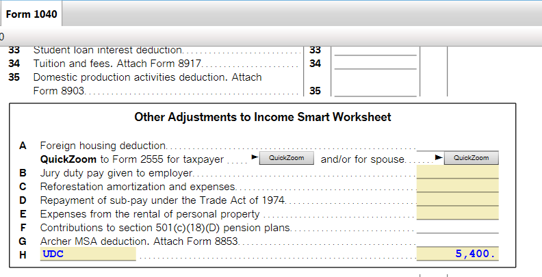 How to I report above the line deductions from a 1099Misc rep – Student Loan Interest Deduction Worksheet